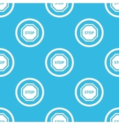STOP sign blue pattern vector