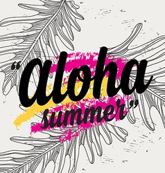 Summer quote party background with tropical vector