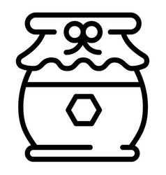 tasty honey jar icon outline style vector image