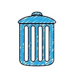 Trash can icon image vector