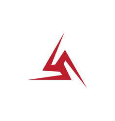 triangle icon design vector image