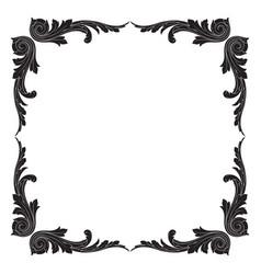 vintage baroque ornament element vector image