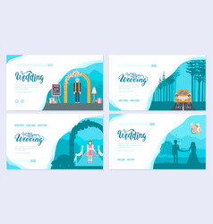 wedding day brochure card set template of flyear vector image