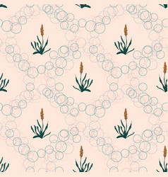 Weeds botanical sketches seamless pattern vector