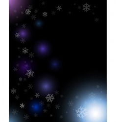 Winter dark abstract composition vector