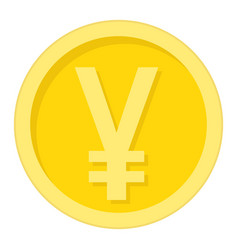 Yen coin flat icon business and finance money vector