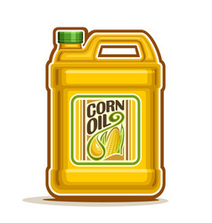 Big yellow plastic bottle with corn oil vector