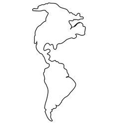 Isolated map of america vector