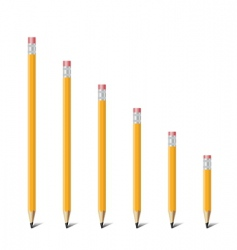 ladder of pencil vector image vector image