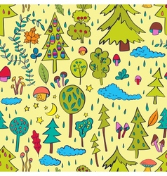 Rainy forest vector image