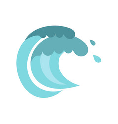 tenth wave icon cartoon style vector image vector image