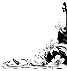 violine with sartorial meter vector image vector image