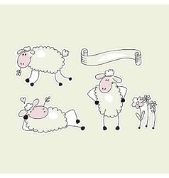 Happy Sheep vector image