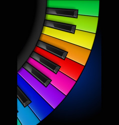 rainbow piano keys vertical for design vector image