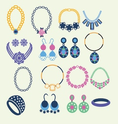 Set of jewelry icons - vector