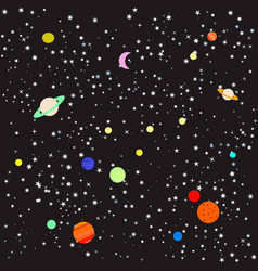 stars and planets vector image vector image