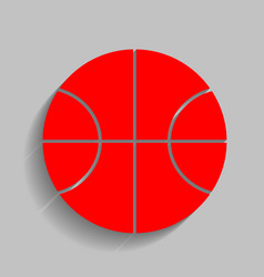 basketball ball sign red vector image vector image