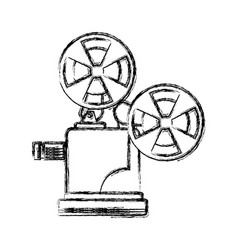 figure short film video camera studio vector image vector image