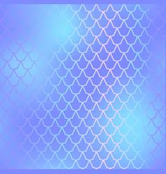 fish skin seamless pattern mermaid scale vector image