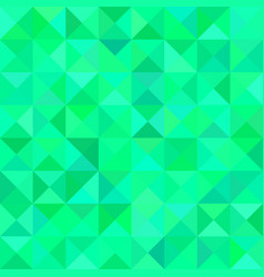 Green triangle mosaic pattern background - vector