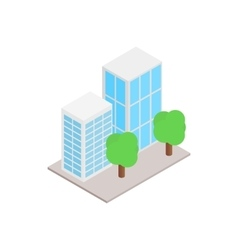 Office buildings with trees icon vector image