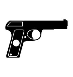 Pistol simple icon vector image vector image