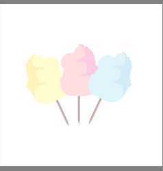 sweet cotton candy vector image