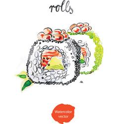 watercolor rolls vector image