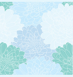 floral seamless hand drawn background vector image vector image