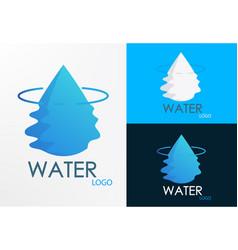 logo water half wave vector image vector image