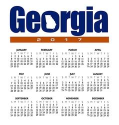 2017 Georgia calendar vector image