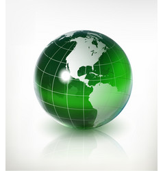 3d earth vector image