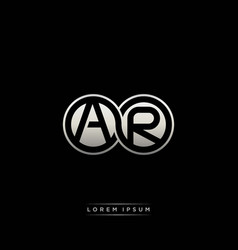 Ar initial letter linked circle capital monogram vector