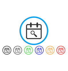 Audit day rounded icon vector
