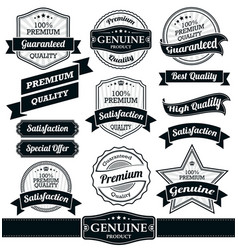 badges and ribbons collection vector image