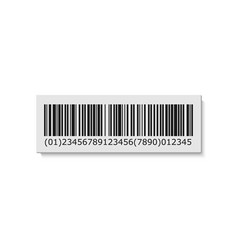 barcode label sticker vector image