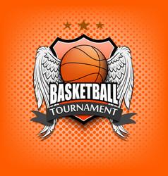 Basketball logo template design vector