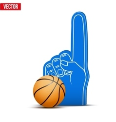 Basketball Sports Fan Foam Fingers and ball vector image