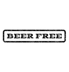 Beer free watermark stamp vector