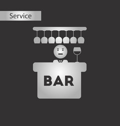 black and white style icon bar bartender vector image
