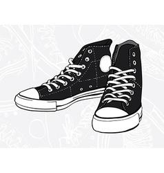black sneakers vector image vector image