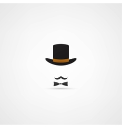 Bowler hat and moustache vector image