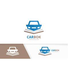 car and open book logo combination vehicle vector image
