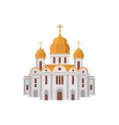 Cartoon church christian denomination decorated vector