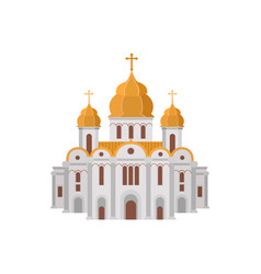 Cartoon church of christian denomination decorated vector