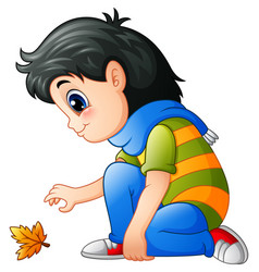 cartoon little girl with au vector image