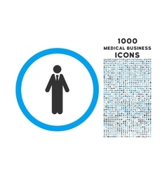 Clerk Rounded Symbol With 1000 Icons vector