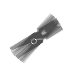 clothes peg sign gray icon shaked at vector image