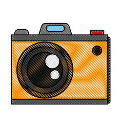 color blurred stripe analog camera with flash vector image