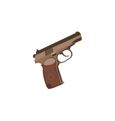 color image pistol on a white background vector image